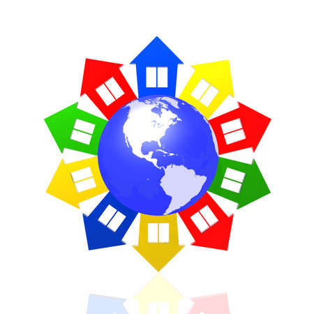Colour lodges around the world photo