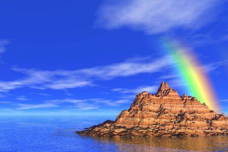 oceans: rainbow in the sea