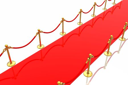 Red carpet isolated in white background Stock Photo - 2802527