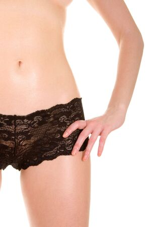 y woman in lingerie on the white background Stock Photo - 2886487