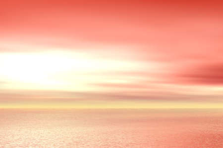 afterglow: Red sunset Stock Photo