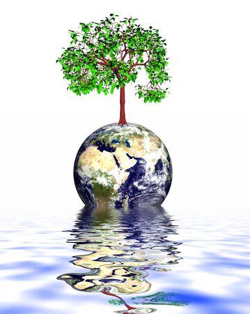 greenpeace: save the Earth Stock Photo