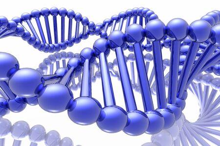 researches: rendere di DNA Archivio Fotografico