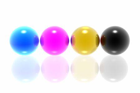 CMYK spheres  photo