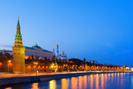 Night city, Moscow photo