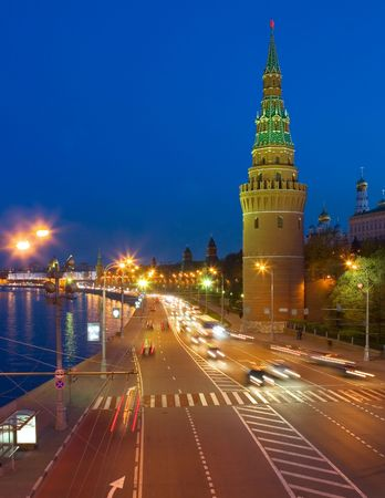 Night city, Moscow photo