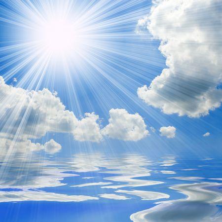 blue sea and sunny sky background Stock Photo - 3330958