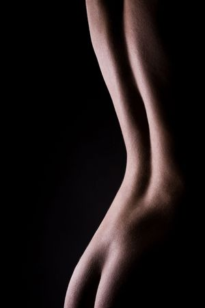 sexy nude girl: classic low key photo of sexy woman body