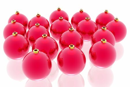 christmas decoration on the white background Stock Photo - 3800056