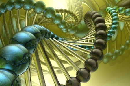 dna structure: render of DNA
