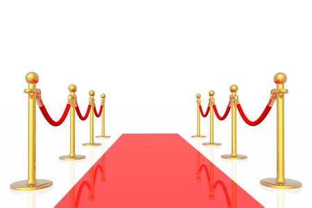 stanchion: Red carpet Stock Photo