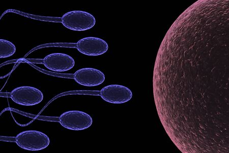 singular: Sperm Attack Stock Photo