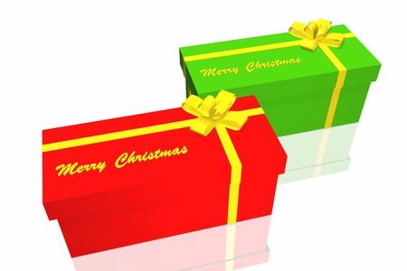 gift box isolated on the white background Stock Photo - 3950032