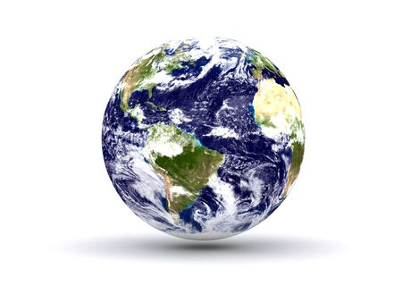 earth isolated in white background Stock Photo - 3962425
