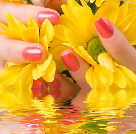 care for beautiful woman hands Stock Photo - 4000482