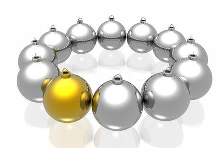 Unique golden christmas decoration photo