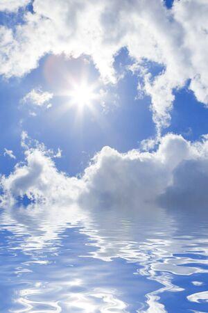 blue sea and sunny sky background Stock Photo - 4210418