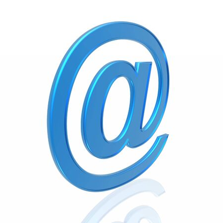 blue e-mail symbol isolated in white background Stock Photo - 4210430