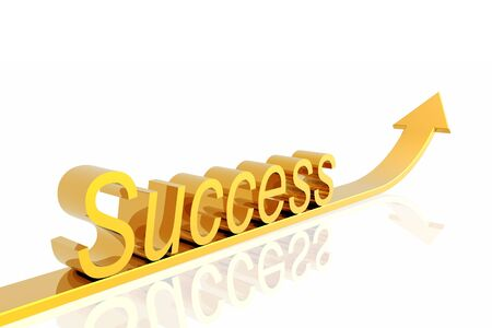 Success arrow isolated in the white background photo