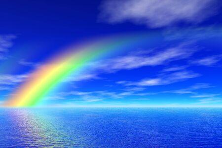 rainbow in the sea