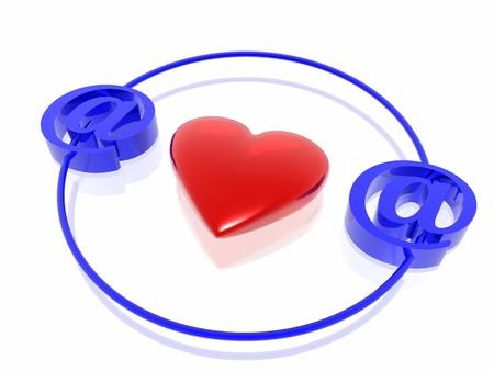 love on internet Stock Photo - 4398358