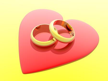 Rings in heart