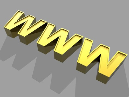 3d World Wide Web internet symbol photo