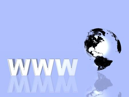 worldwide web: 3D World Wide Web de Internet y s�mbolo mundo