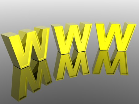 3d World Wide Web internet symbol Stock Photo - 4398363