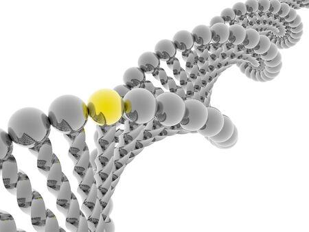 Golden gene in DNA Stock Photo - 4398753