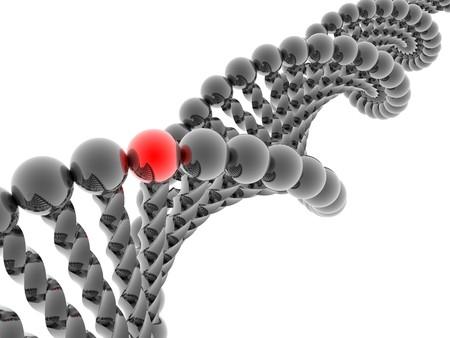 Red gene in DNA Stock Photo - 4398755