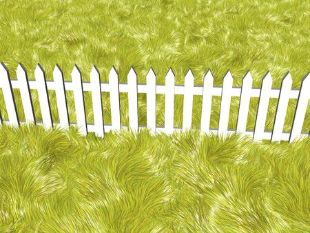 fence on a solar summers day Stock Photo - 4398854