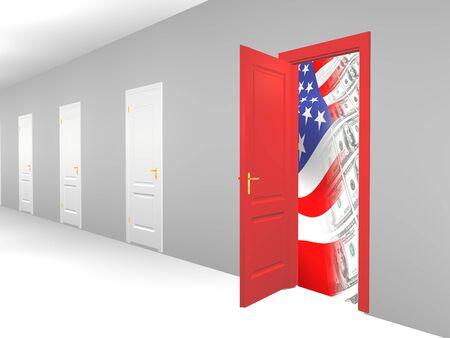 Opened door to business world Stock Photo - 4398728