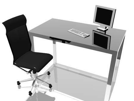 digitally generated: Boss table Stock Photo