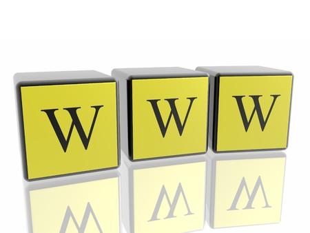 3d World Wide Web internet symbol Stock Photo - 4398888
