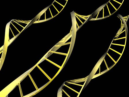 DNA isolated in black background Stock Photo - 4398915