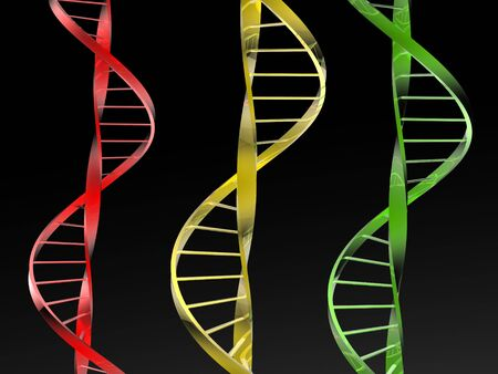 DNA isolated in black background Stock Photo - 4398900
