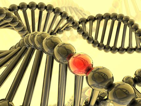 researchs: Red gene in DNA