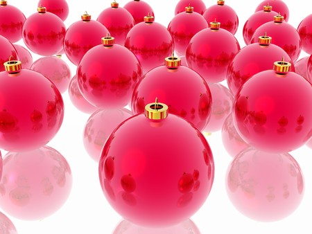 Red christmas decoration on the white background Stock Photo - 4442380