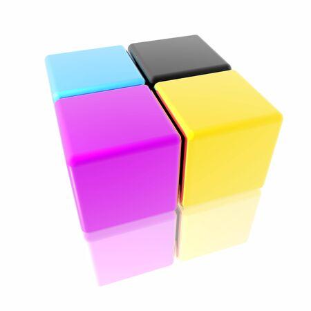 CMYK cubes photo