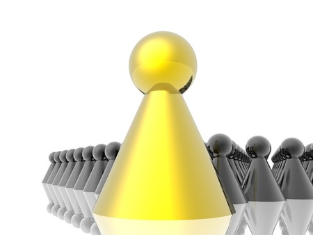 Golden leader of management photo