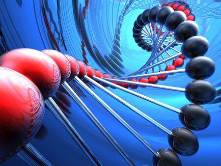 genomes: render of DNA