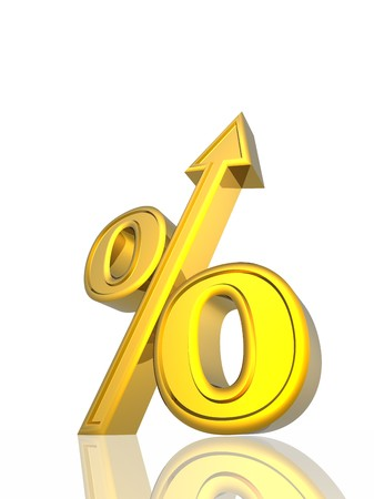 exceed: Percent growth Stock Photo