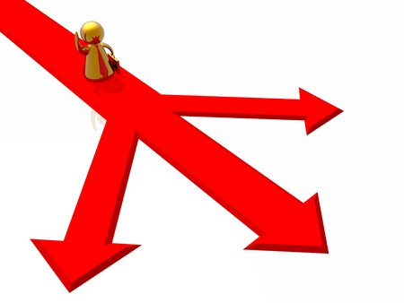 Choise of correct decision Stock Photo - 4490317