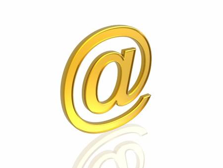 Golden e-mail symbol Stock Photo - 4490338