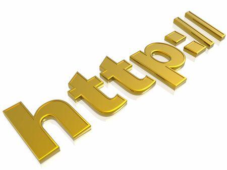 3d illustration internet sign