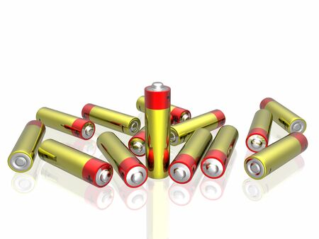 3d batteries Stock Photo - 4530109