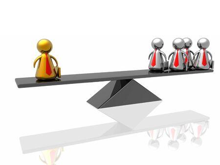 dominate: Golden leader,business concept