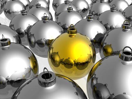 Unique golden christmas decoration on the white background Stock Photo - 4530129