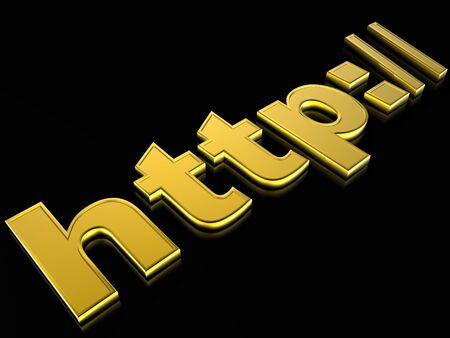 3d illustration internet sign Stock Illustration - 4530101